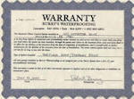 Burry's Basement Waterproofing Life Time Warranty For The Life Of The Home